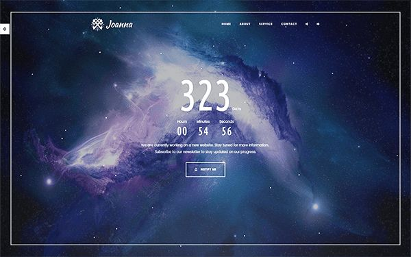 Joanna - Creative Coming Soon Template | Bootstrap Landing Pages ...