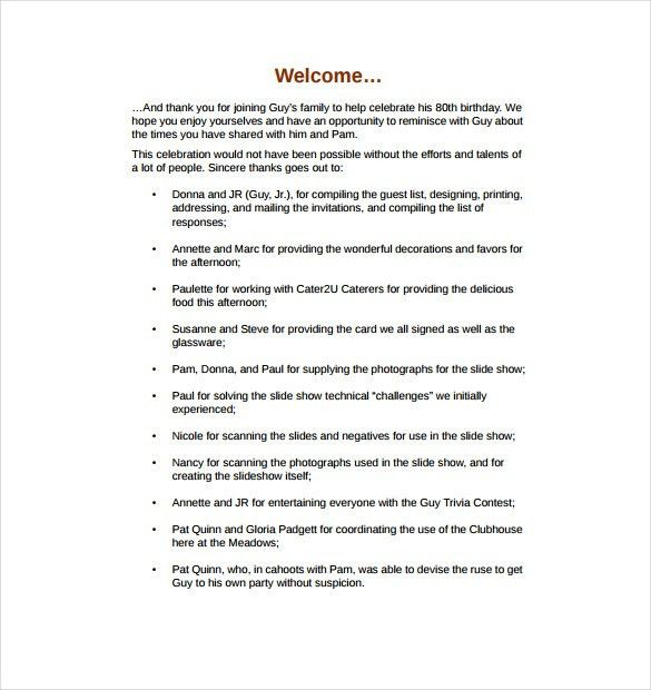 Birthday Program Template - 11+ Free Word, PDF, PSD, EPS, AI ...