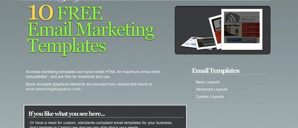 101 free e-mail newsletter templates