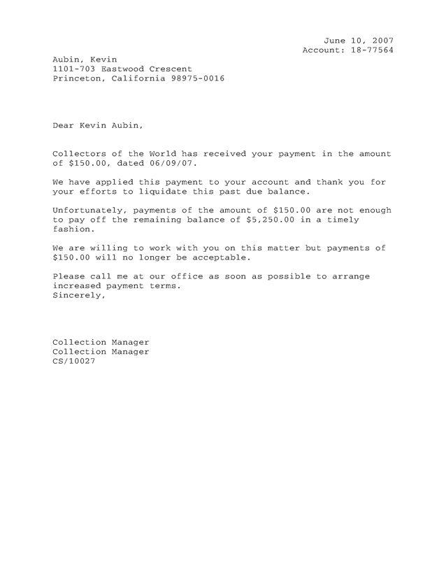Downloads - Debtor Letter