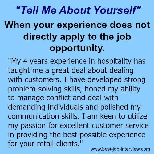 "Tell me about yourself""- sample interview answers 
