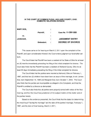 5+ free fake divorce papers to print | Divorce Paper