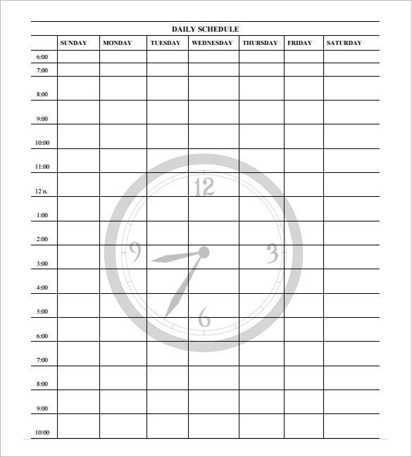 Daily Schedule Template - 29 Free Word, Excel, PDF Documents ...