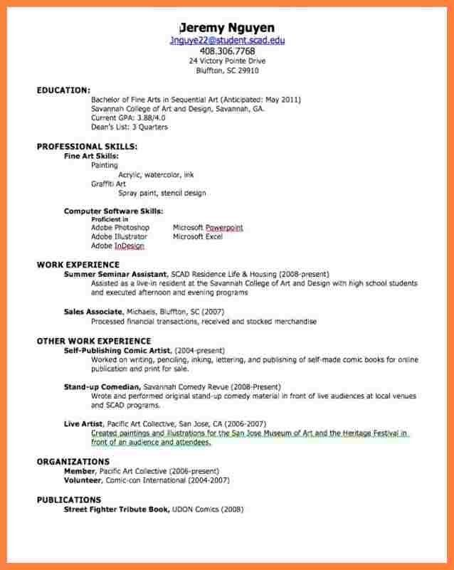 5+ how to make resume for first job with example | Bussines ...