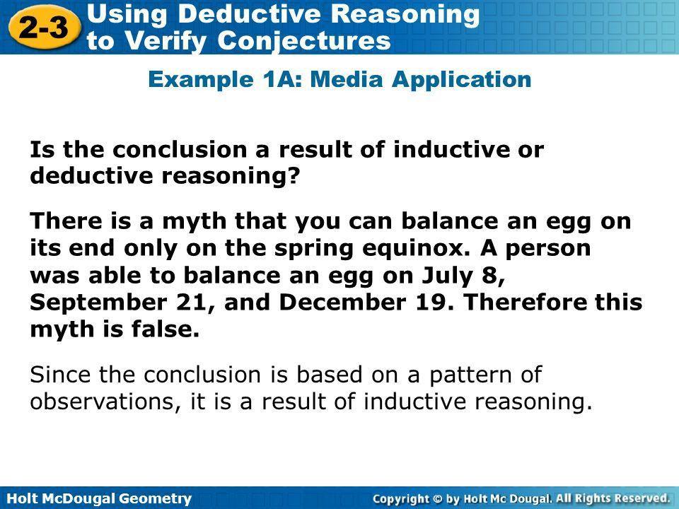 Holt McDougal Geometry 2-1 Using Inductive Reasoning to Make ...
