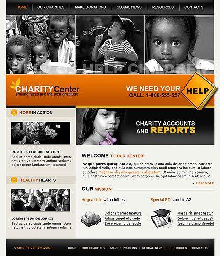 non profit website templates