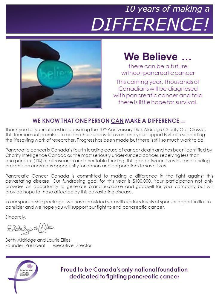 Sponsorship Proposal We are proud to be Canada's only national ...