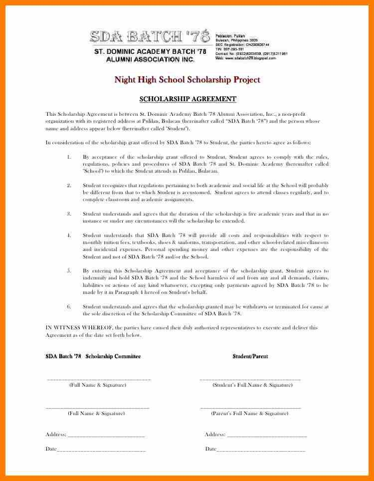 Student Contract Template. Website Maintenance Agreement ...