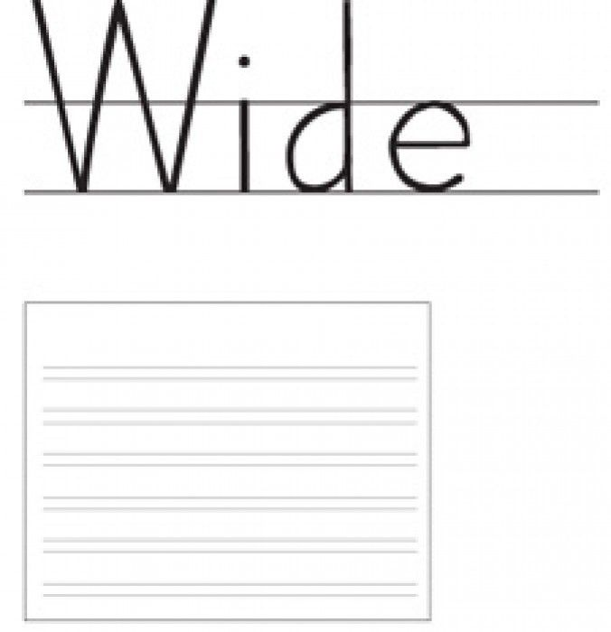 Double Lined Paper Handwriting Without Tears Double Line Notebook