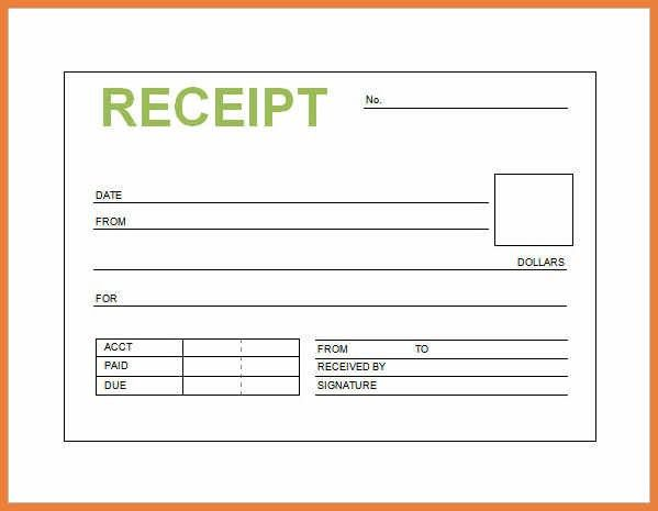 Receipt Samples - Template Examples