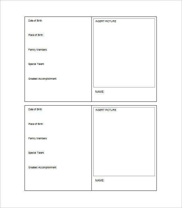 Trading Card Template – 21+ Free Printable Word, PDF, PSD, EPS ...