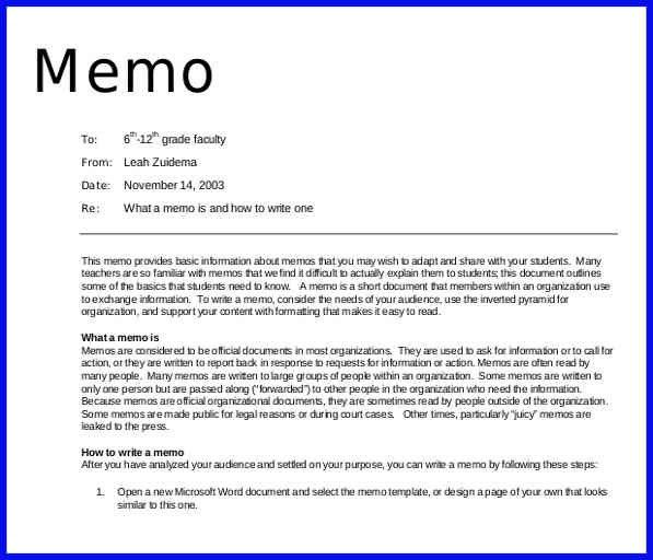 Example Of A Memo Report Sample Memo Report 10 Audit Memo – Professional Memo Template