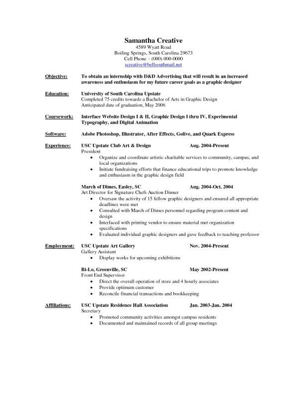 Good Objective For Internship Resume | Samples Of Resumes