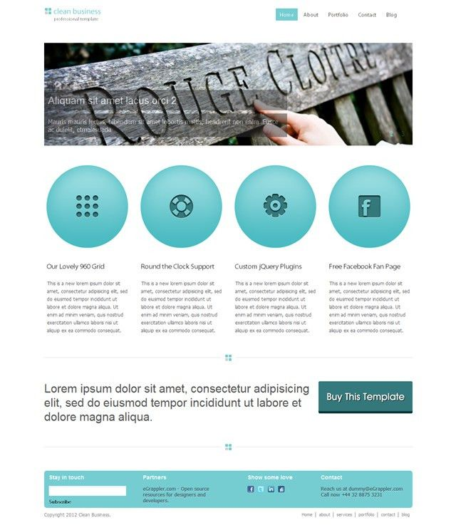 Free Clean Business HTML/CSS Template