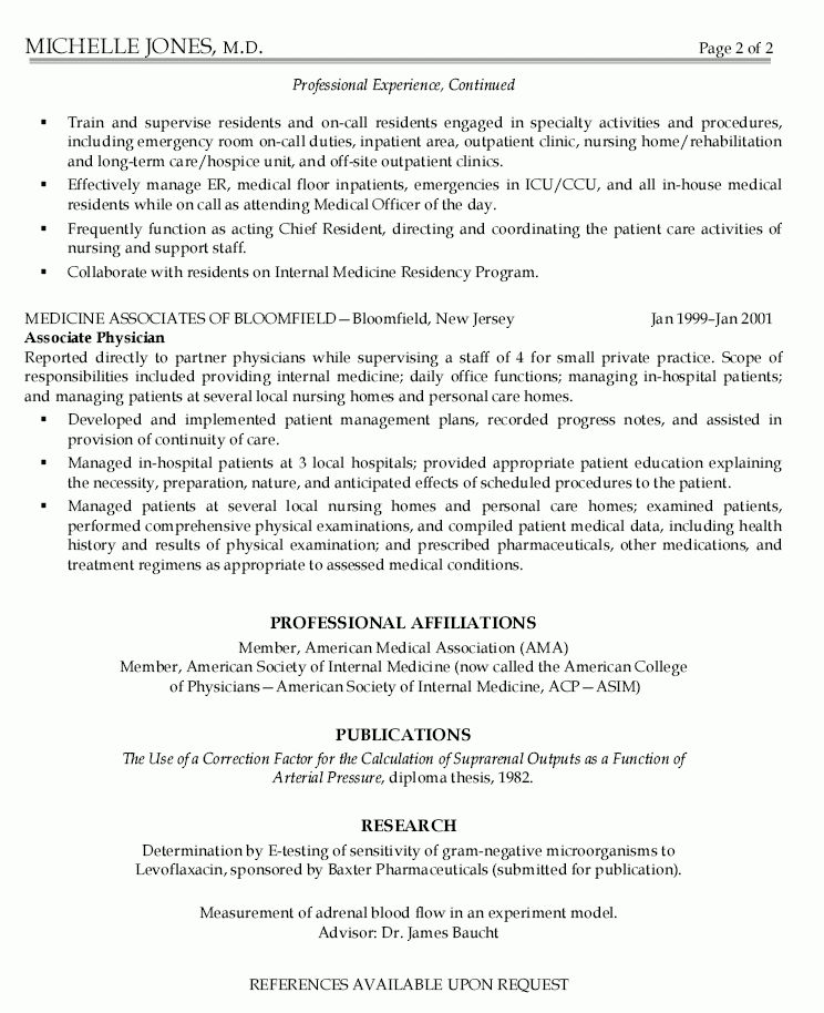 Download Physician Resume | haadyaooverbayresort.com