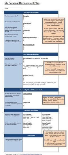 Good Development Plan Template | Internet Articles and Learning ...