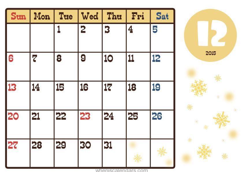 December 2015 Calendar Template   Calendar 2017 2018