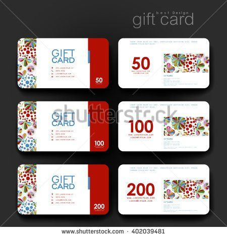 Gift Coupon Discount Card Template Abstract Stock Vector 375870262 ...