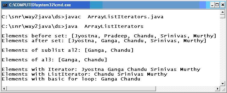 ArrayList Get Extract Elements Java