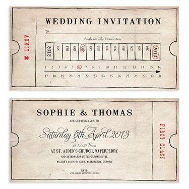 Vintage Bus Ticket Wedding Invitation | design | invite ...