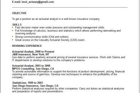 top 8 actuarial assistant resume samples in this file you can ref ...