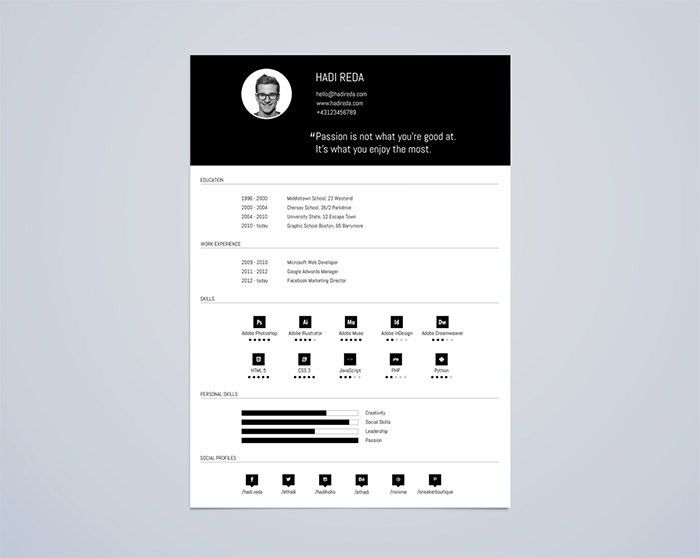 Free Template Resume. 30 Free & Beautiful Resume Templates To ...