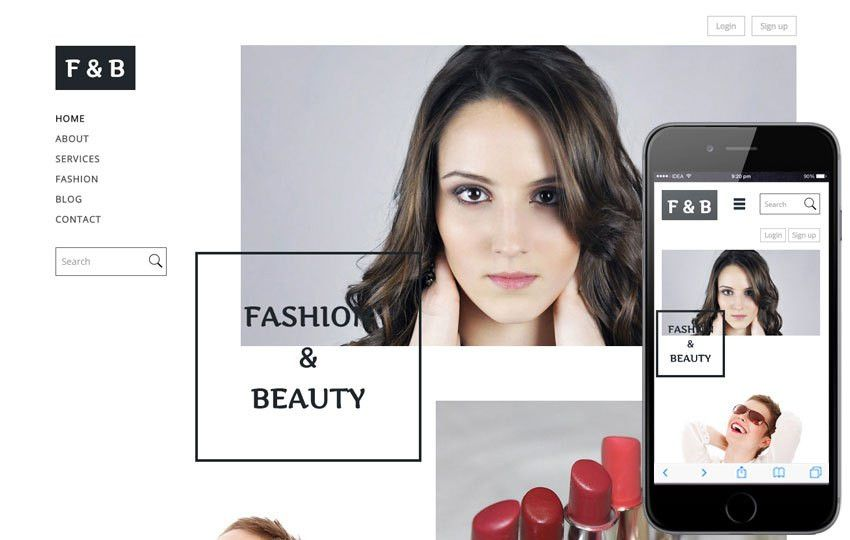 Fashion and Beauty a Fashion Category Flat Bootstrap Responsive ...