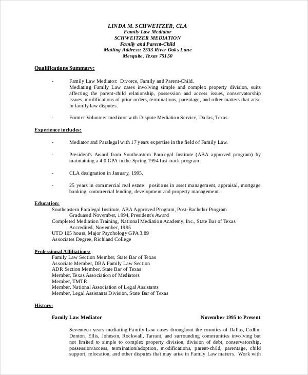 samples of paralegal resumes free paralegal resume example