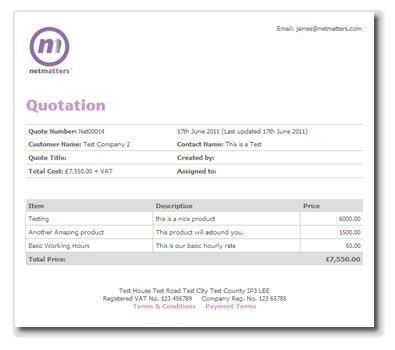 TemplateStandard Quotation Form. Cover Letter A Cost Quotation ...