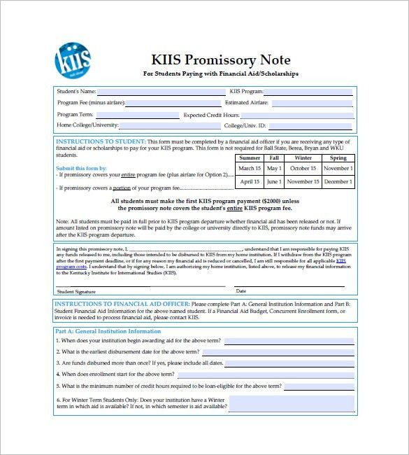 10+ International Promissory Note Templates – Free Sample, Example ...