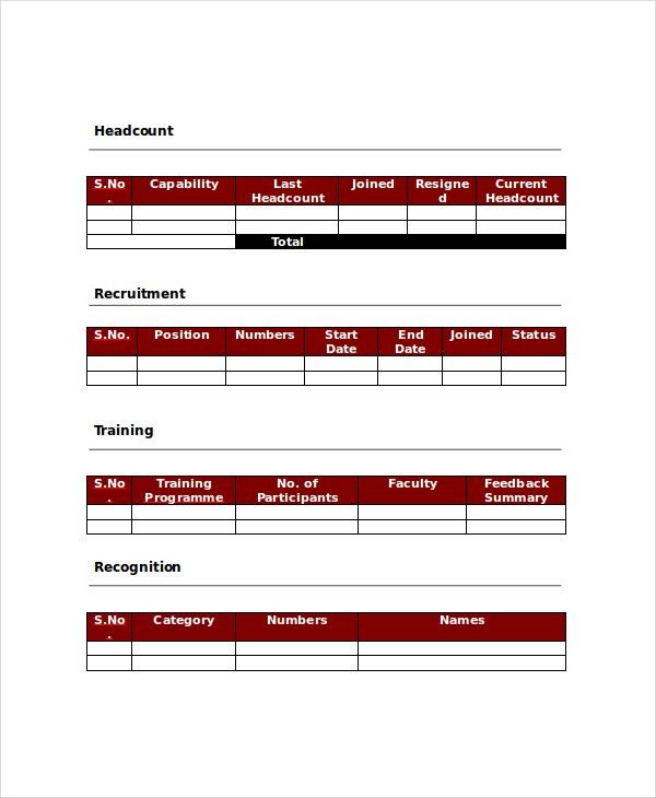 HR Report Templates - 8+ Free Word, PDF Format Download! | Free ...
