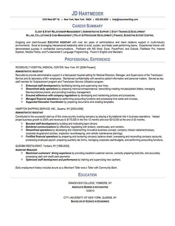 Medical Administrative Assistant Resume Samples | Free Resumes Tips