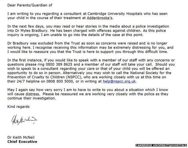 Myles Bradbury: Addenbrooke's 'sorry' over doctor letters - BBC News