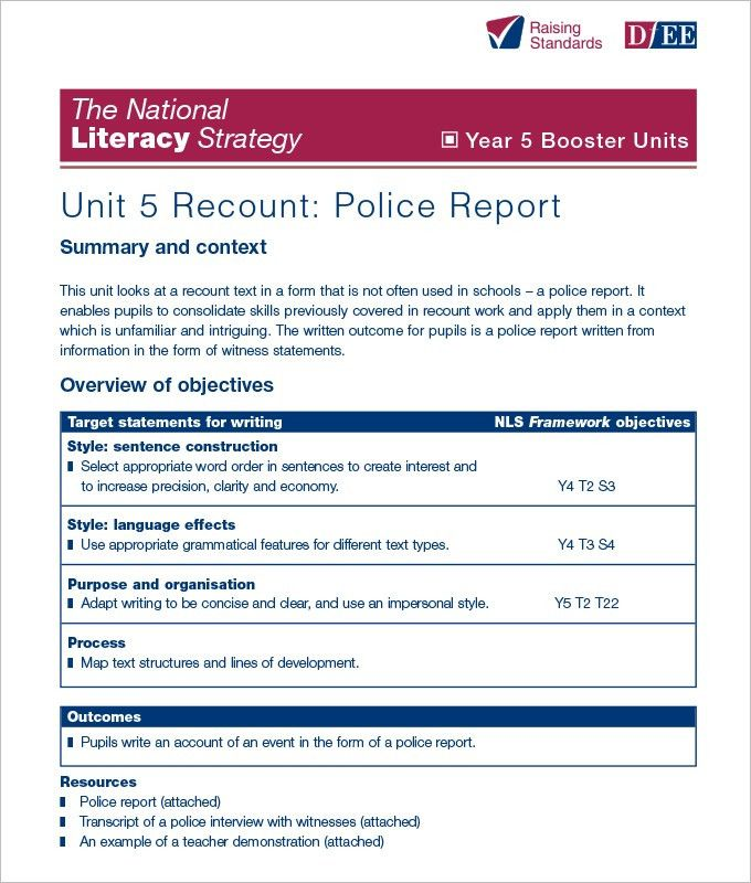 Top 4 Samples Of Police Report Templates - Word Templates, Excel ...
