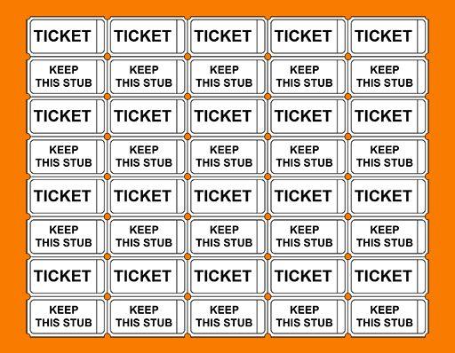 7 printable raffle ticket template | Receipt Templates