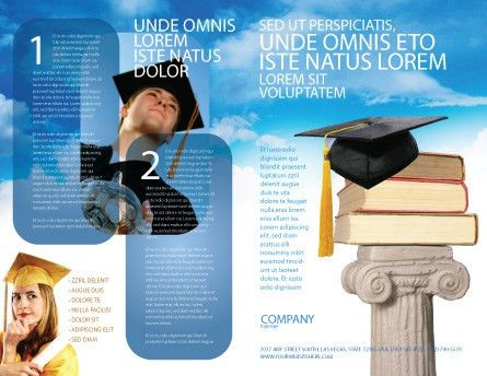 University Education Brochure Template Design and Layout, Download ...
