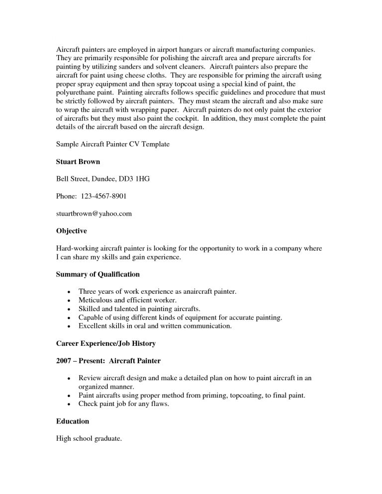 Majestic Painter Resume 13 House Sample - Resume Example