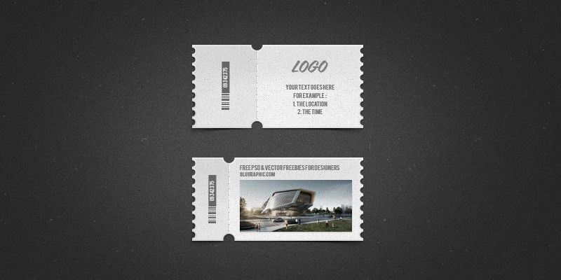 Photoshop Ticket Template - ByPeople (12 submissions)