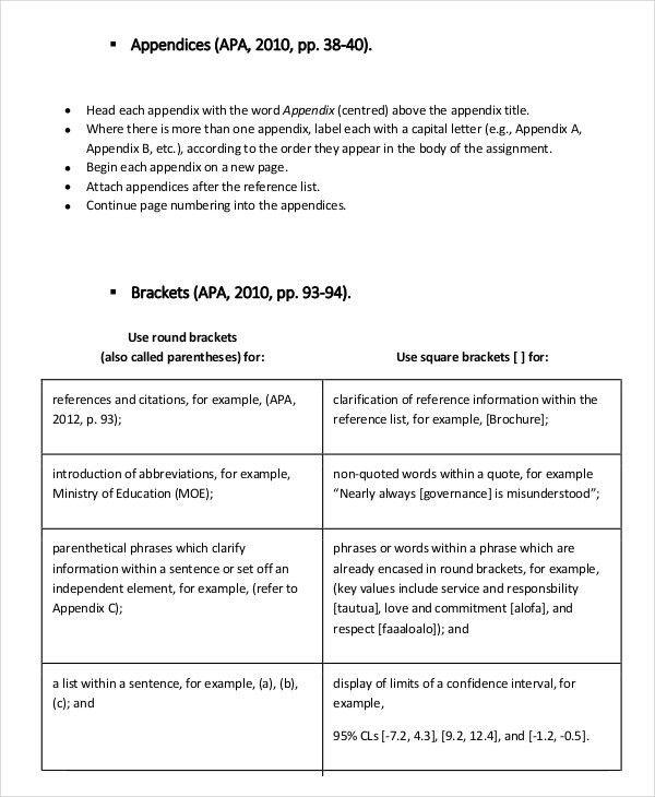8+ APA Format Examples | Free & Premium Templates