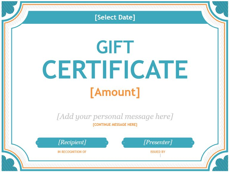 7 Free Gift Certificates | Certificate Templates