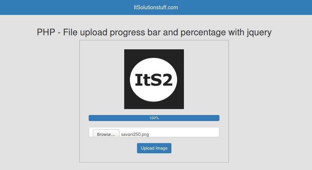 PHP - File upload progress bar with percentage using form jquery ...