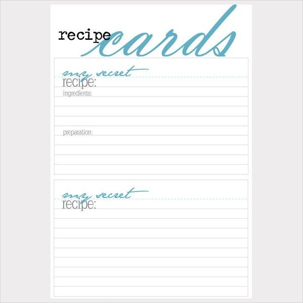 17+ Recipe Card Templates - Free PSD, Word, PDF, EPS Format ...