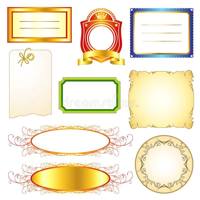 Label Templates Set 2 Royalty Free Stock Photos - Image: 16449608
