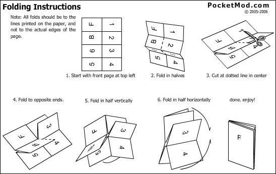 Make Pocketmods (little Booklets) With MS Word: 3 Steps