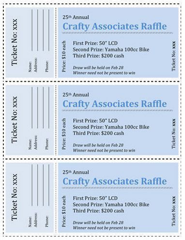 32 best Raffle Flyer and Ticket Templates images on Pinterest ...