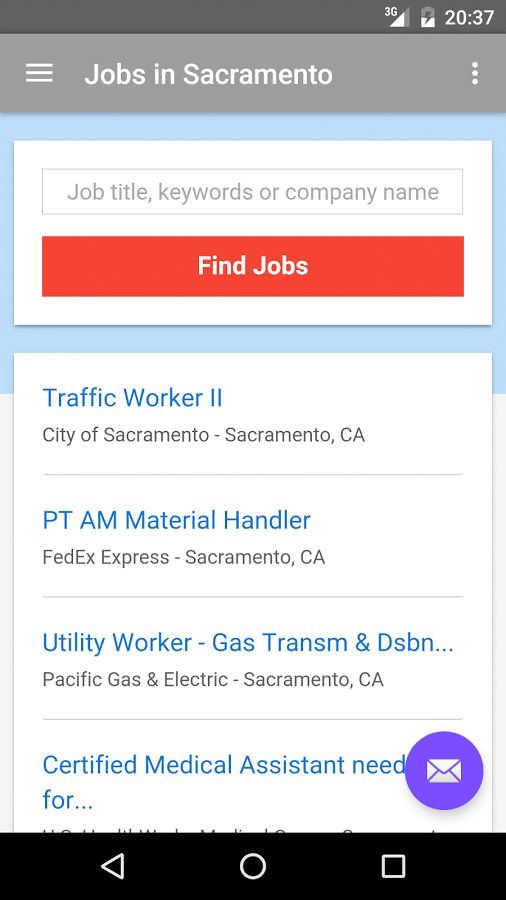 Jobs in Sacramento, CA, USA - Android Apps on Google Play