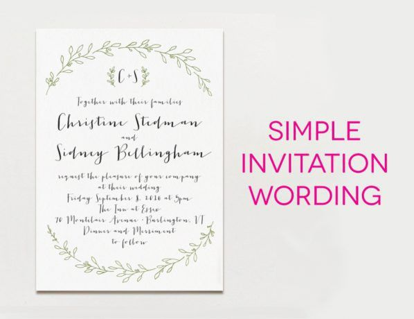 The inspiring collection of How To Word Wedding Invitations at ...