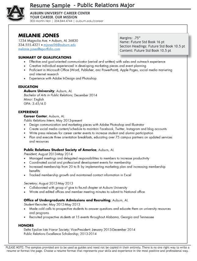 How to write a Public Relations Resume - RESUMEDOC