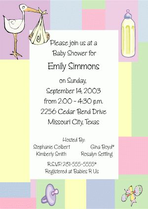 Baby Shower Invitation Wording Examples | THERUNTIME.COM