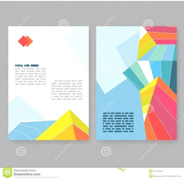 Fold Brochure Abstract Elements Infographics Templates Free ...